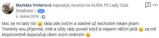 aurafit zkušenosti str Markéta Vinterová